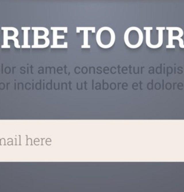Newsletter template - subscription form. Vector illustration.
